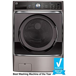 Kenmore 41073 Metallic Silver 5.2 Cubic Feet Front-Load Washer with Steam Treat, Accela Wash and Includes Delivery and Hookup, cu. ft