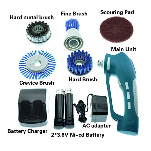 Lewisia Household Power Scrubber With 2 Batteries 4