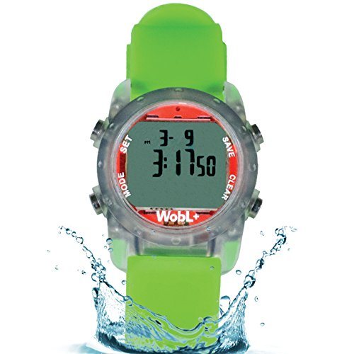 WobL+ Waterproof Vibrating Watch (Green), 9 Alarms by WobL Watch