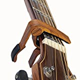 Crosstreesports Guitar Capo Musicians Recommended for Acoustic,Electric or Classical Guitar - Perfect for Banjo and Ukulele - Lightweight Aluminum Materials (Red wood color)
