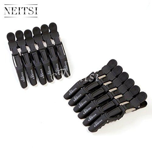 Neitsi® Black Color Plastic Croc Non Slip Clips Hair Stylin