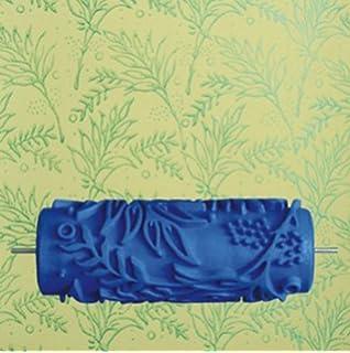 color azul Rodillo para impresi/ón decorativa en paredes motivo de flores Generic 15 cm