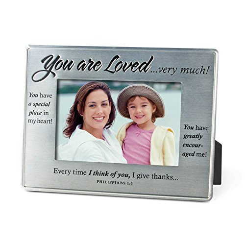 Lighthouse Christian Products More Than Words You are Loved Metal Frame, 4 x 6 by Lighthouse Christian Products