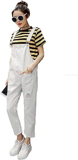 [エージョン] レディース ズボン ゆったり ジーンズ デニム ダメージ 大きいサイズ デニムパンツ 学生 通学通勤 ファッション 韓国風 可愛い