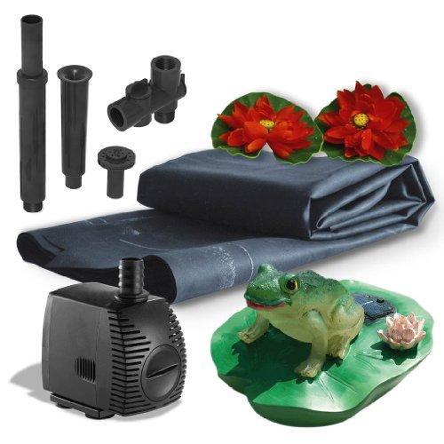 Algreen Pond Kit with Solar Lighting, 300-Gallon