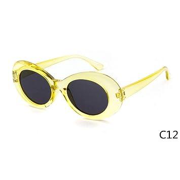 ZRTYJ Gafas de Sol Vintage Pequeño Oval Gafas de Sol Hombres ...