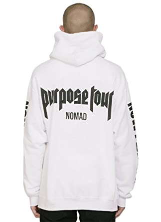 5b7eae7c1405 Purpose Tour Hoodie Nomad Super Rare Justin Bieber Merch (XL) White   Amazon.co.uk  Clothing