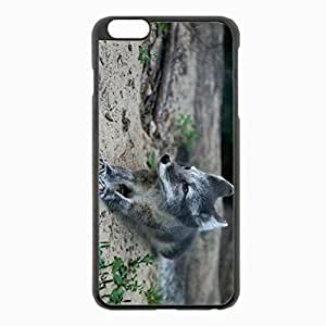iPhone 6 Plus Black Hardshell Case 5.5inch - wood cub fur lying grass Desin Images Protector Back Cover