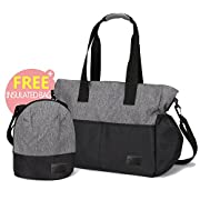 Diaper Bag, Klokol Large Baby Diaper Tote Organizer Insert Travel Nappy Bags Style with Shoulder Strap and 10 Pockets for Mom, Boys and Girls, Stroller (Free Complimentary Insulated Bag)