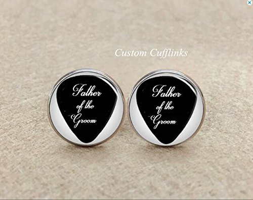 Amethyst Silver Plated Cufflinks - guitar pick up cufflinks,Father of the groom Cufflinks, Custom Wedding Cufflinks,Handmade cool gifts for men, wedding silver plated cufflink