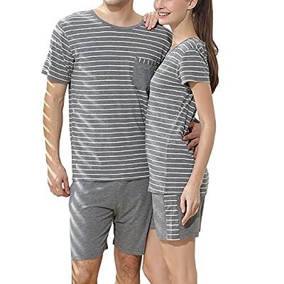 5d452a29ac Dolamen Femme Pyjamas de Couple, Femmes Ensemble de Pyjama Printemps été  vêtements de Sport,
