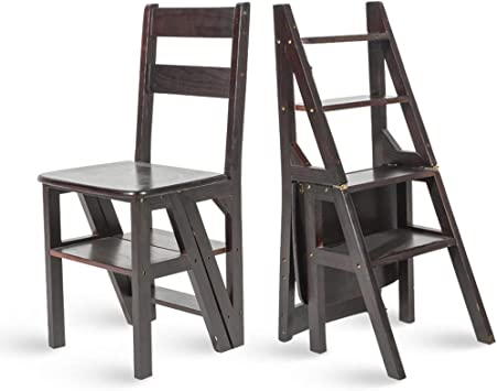 M-Y-S Silla con peldaño/taburete/escalera de mano, silla de escalera plegable de biblioteca convertible multifuncional Silla con 4 peldaños, estante decorativo for el hogar o peldaño de subida, se: Amazon.es: Bricolaje y herramientas