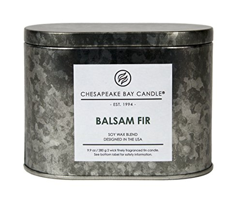 Chesapeake Bay Candle Heritage Two-Wick Tin Scented Candle, Balsam Fir