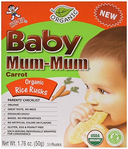 Mum Mum Rice Biscuits - Organic Carrot - 1.76 oz