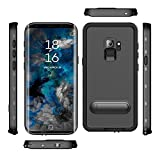 Samsung Galaxy S9 Case, IP68 Waterproof Shockproof Dustproof Snowproof Full-body Heavy Duty Protective Case with Built in Screen Protector, Kickstand and Floating Strap for Galaxy S9