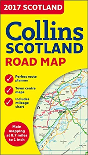Road Map Of England And Scotland.2017 Collins Scotland Road Map Collins Uk 9780008158590 Amazon