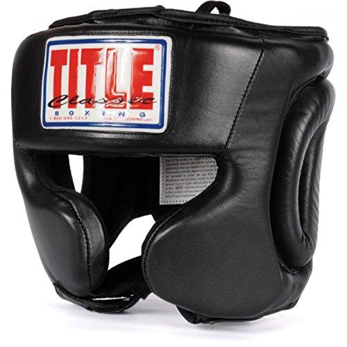 TITLE Classic Traditional Training Headgear, Black, Regular
