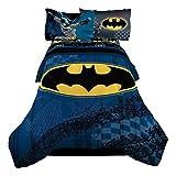 "Warner Bros 72 x 86"" Batman Guardian Speed Reversible Microfiber Comforter, Twin/Full"