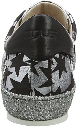 Mjus 823102-0101-0001, Baskets Femme Noir (Argento+nero+argento 0001)