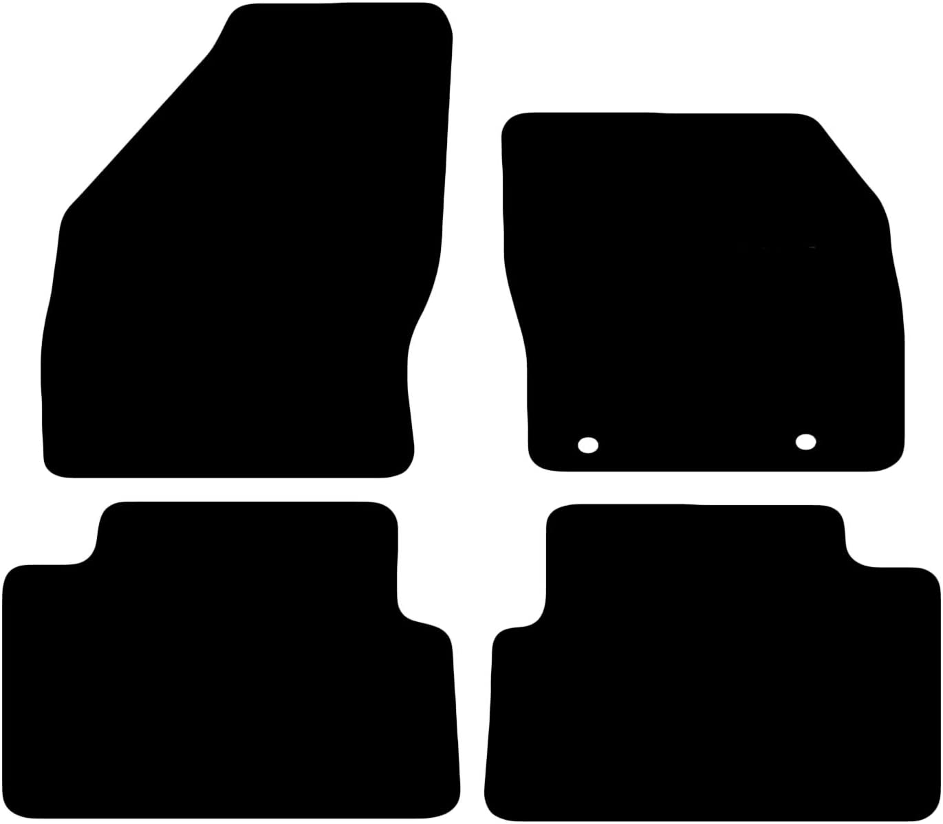 Ford C  Max 2011-2013 Fully Tailored Premium Car Mats in Black