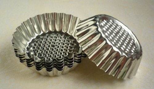 8 Pack Fluted Design Round Shape Tart Mold Tartlet Pan