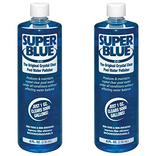 (Robarb 20152A Super Blue Crystal Clear Pool Water Clarifier, 8 Fl Oz (2 Pack))