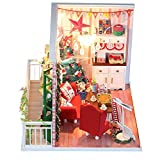 skyning Christmas DIY Cottage, for Kids with LED Lights for Christmas Decoration, Birthday Gift