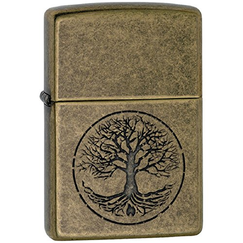 Personalized Message Engraved Customized Part4 Zippo Lighter Indoor Outdoor Windproof Lighter (Tree of Life)