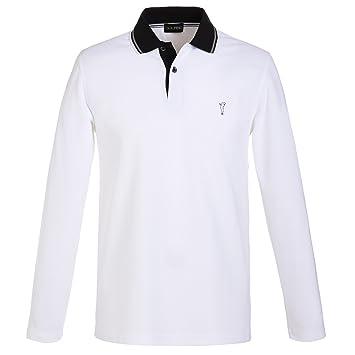 259842f84106 GOLFINO Men s premium functional golf polo shirt with sun protection White  XXL