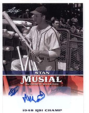 Amazoncom 2015 Leaf Heroes Of Baseball Stan Musial