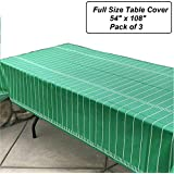 """Oojami Pack of 3 Game Day Football Tablecover 54""""x108"""""""