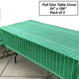 Oojami Pack of 3 Game Day Football Tablecover 54'x108'