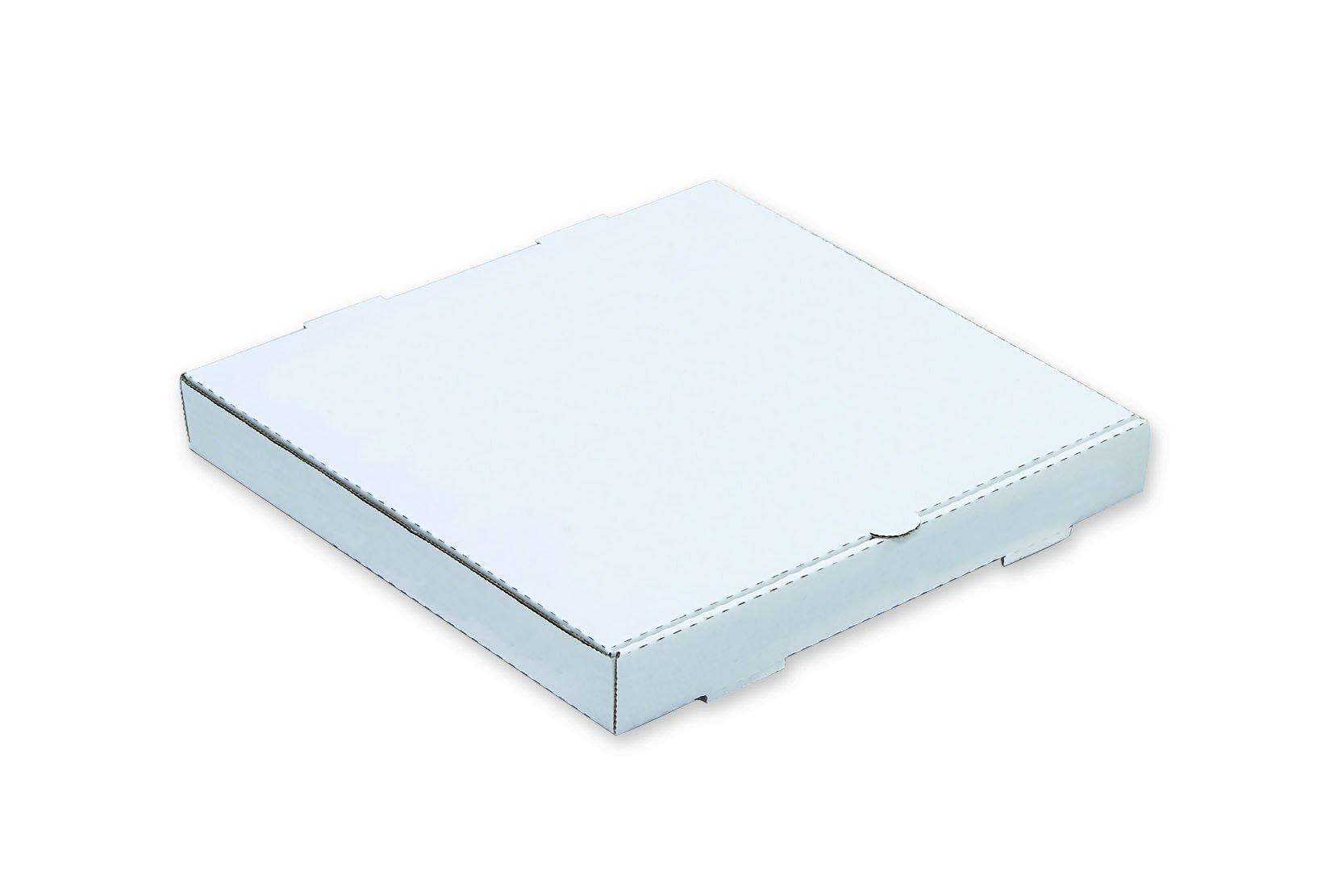 W PACKAGING WPPB14KW2P 14'' White/Kraft Plain Pizza Box, 2'' Deep, B-Flute (Pack of 50)