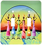 3dRose lsp_205174_2 African American Woman Designer Art Original - Double Toggle Switch