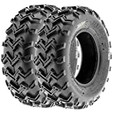 SunF 21x7-10 21x7x10 ATV UTV All Terrain Race Replacement 6 PR Tubeless Tires A001, [Set of 2]