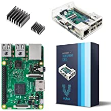 Raspberry Pi 3 Model B With Clear Transparent Case and Set of 2 Heatsinks