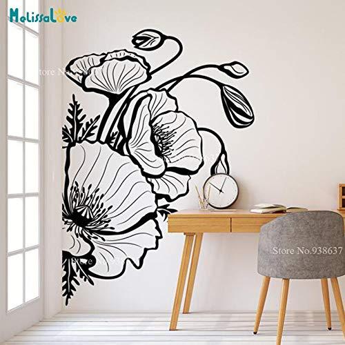 42x60 cm Flor de la amapola Tatuajes de plantas tema Wallpaper ...