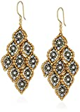 Miguel Ases Marquise Cluster Pyrite Movable 3D Swarovski Drop Earrings