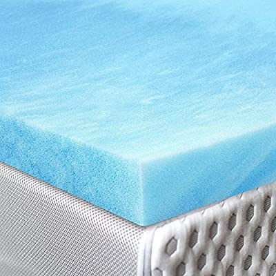 Red Nomad - Ultra Premium Gel Infused Visco Elastic Memory Foam Mattress Pad Bed Topper - Made in the USA