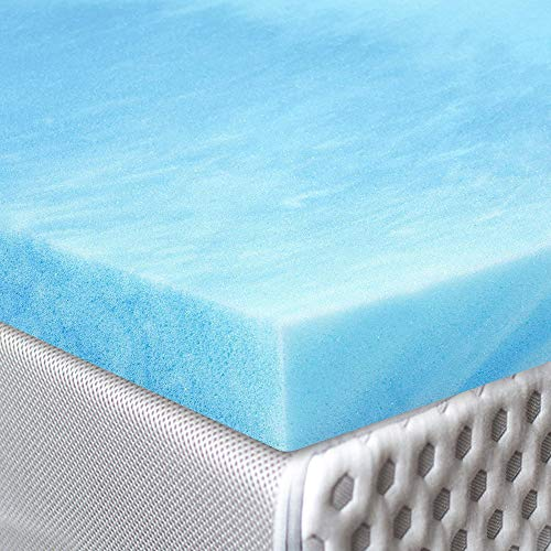 Red Nomad - Twin Size 2 Inch Thick, Ultra Premium Gel Infused Visco Elastic Memory Foam Mattress Pad Bed Topper - Made in The USA (Memory Foam Topper Vs Memory Foam Mattress)