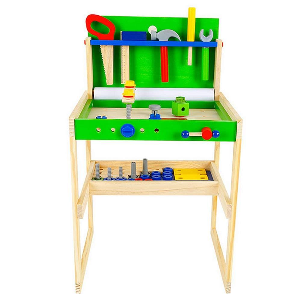 Con 100% de calidad y servicio de% 100. Juego de roles reutilizable Pretender juguetes juguetes juguetes par Juego de herramientas Toybench And Toddler para niños Ingeniería para niños Learn Wood Workshop Tool Table Juego de imaginación Play-set Juguetes All  tienda hace compras y ventas