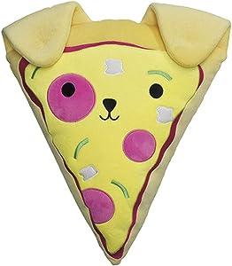 iscream Bubble Gum Scented Pupperoni Pizza Slice Embroidered Accent 16