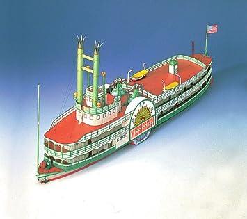 maquette en carton bateau roue le mississippi