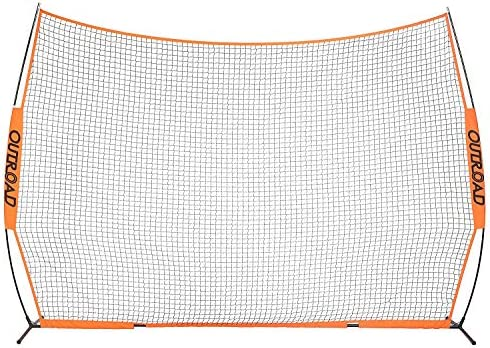 Outroad 7×7 ft Portable Golf Net Hitting Pitching Practice Driving with Carry Bag, Training for Outdoor Indoor Backyard Orange