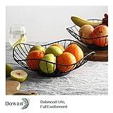 DOWAN Fruit Basket Bowl Set of 2, Large Wired Fruit