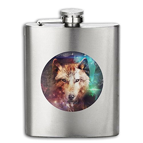 Cooby Roman Wolves Represent Wisdom Funny Logo Stainless Steel Pocket Flagon Shot Flask Hip Flask Wine Pot