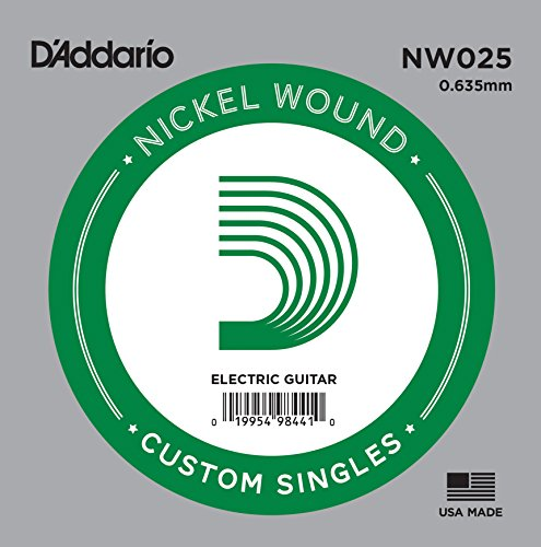 Daddario Single Guitar Strings - D'Addario NW025 Nickel Wound Electric Guitar Single String, .025