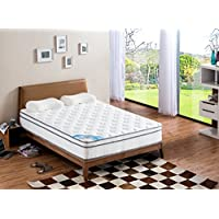 Roundhill Furniture Pillow Top Full Size Pocket Spring Mattress, Full