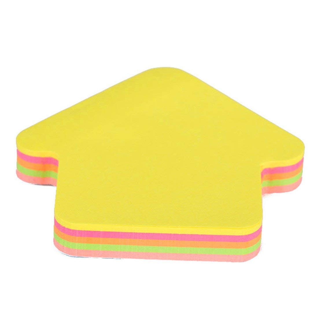 Super Sticky Notes,3x3 Inches,Practical Special Shape Sticky Notes Pads for Student School Office Arrow Shape Durable and Practical
