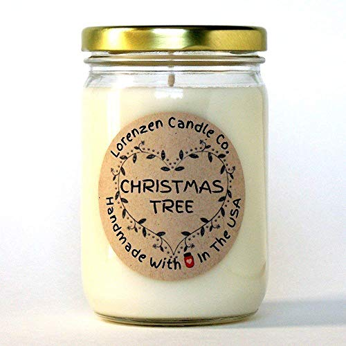 Christmas Tree Soy Candle, 12oz | Handmade in The USA with 100% Soy -